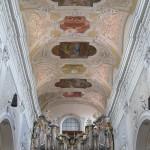 "Decke Richtung Orgel in der Kirche ""Zu Unserer Lieben Frau"" bzw. ""Oberer Pfarre"" in Bamberg"