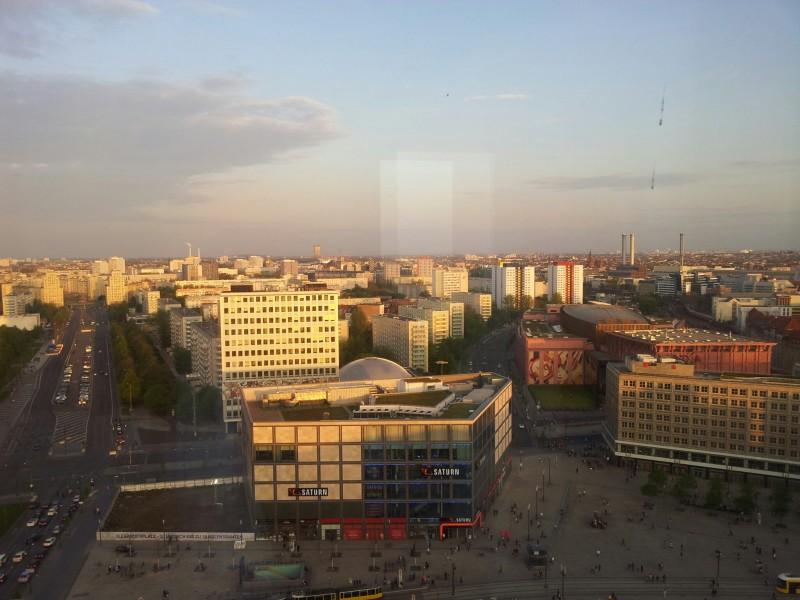 Bild vom Ausblick aus dem 23. Stock des ParkInn Berlin Alexanderplatz