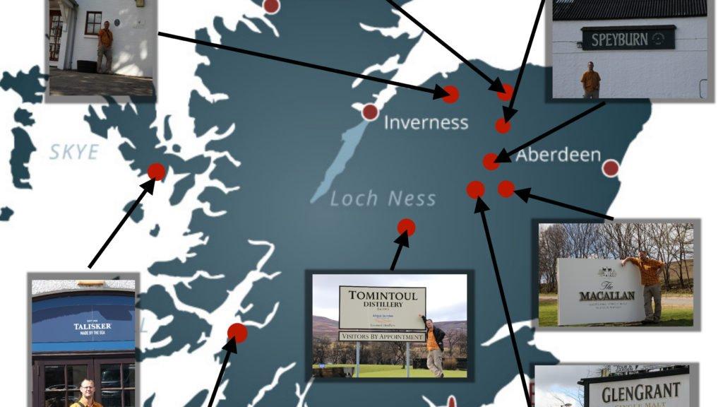 Zusammenstellung meiner Whiskytour in Schottland (alle Bildrechte bei Stefan Weißer)