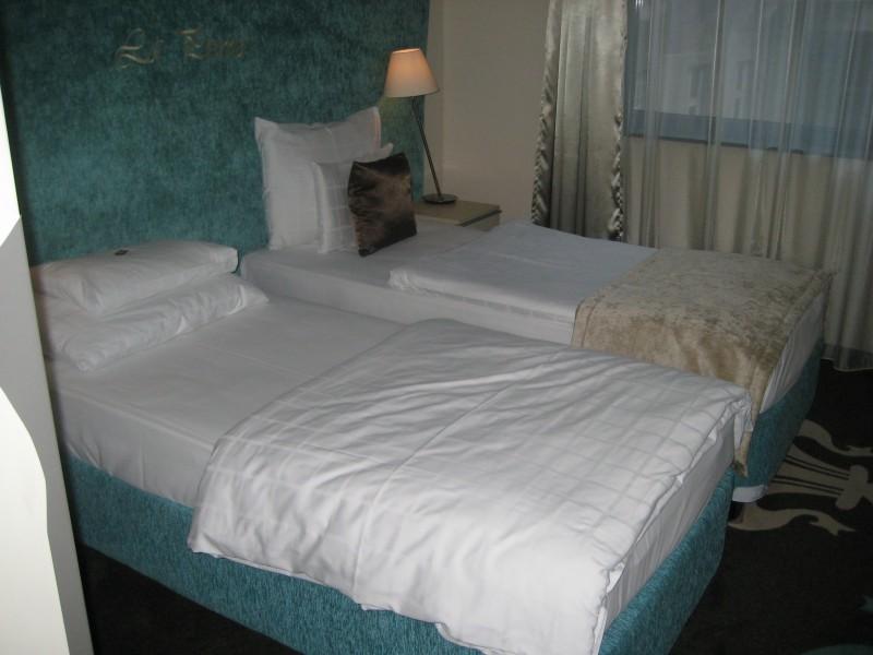 Bild der beiden Betten im Zimmer im La Prima Fashion Hotel Budapest