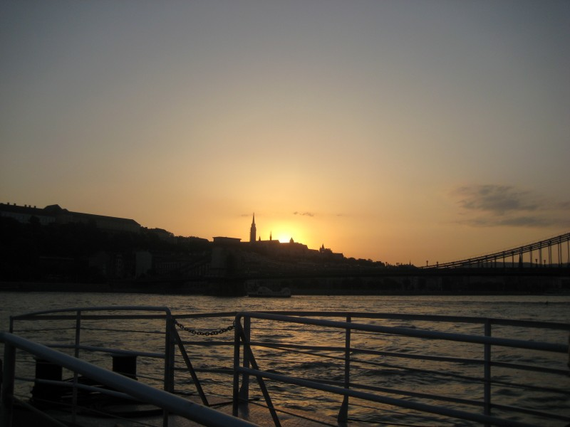 Bild vom Sonnenuntergang in Budapest