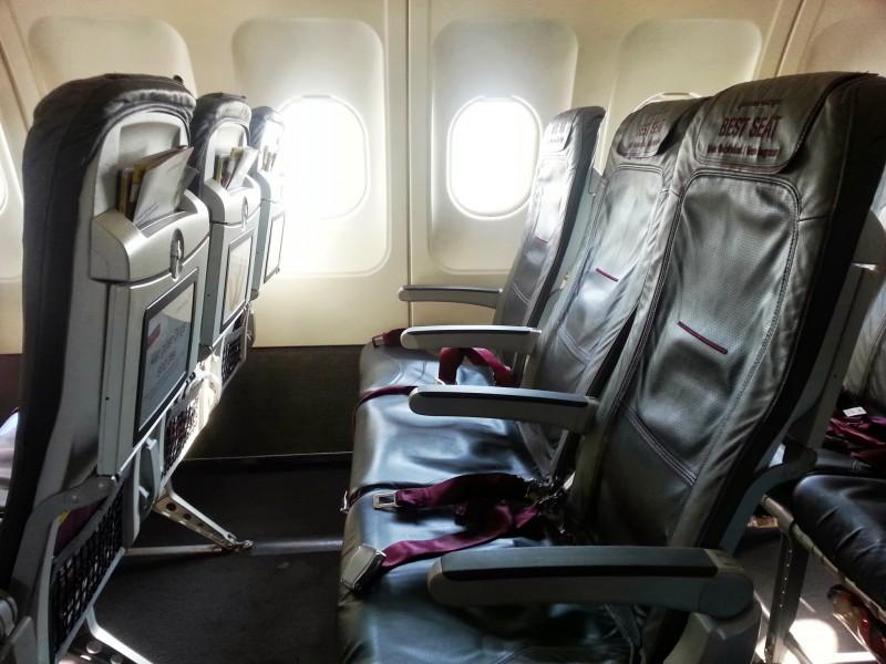 Sitzplatzreihe bei Germanwings