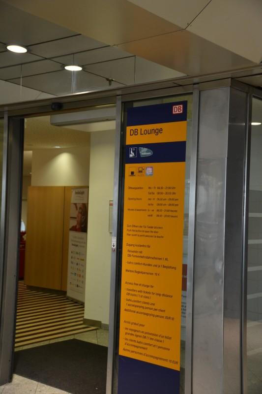 Eingang zur DB Bahn Lounge München