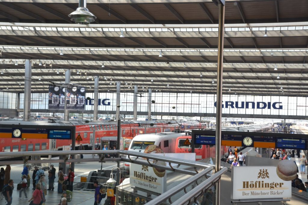 Ausblick aus der DB Bahn Lounge München