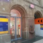 Eingang zur DB Bahn Lounge im Hauptbahnhof Leipzig