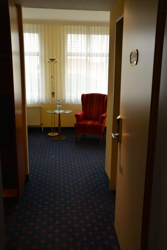 Bild vom Sessel im Hotel Ratswaage Magdeburg