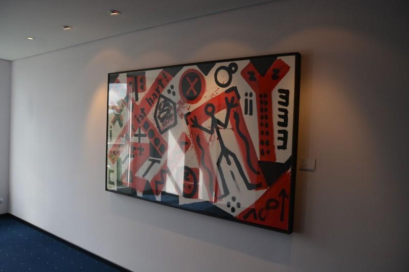 Bild von A.R. Plenck in der 4. Etage des art'otel Dresden
