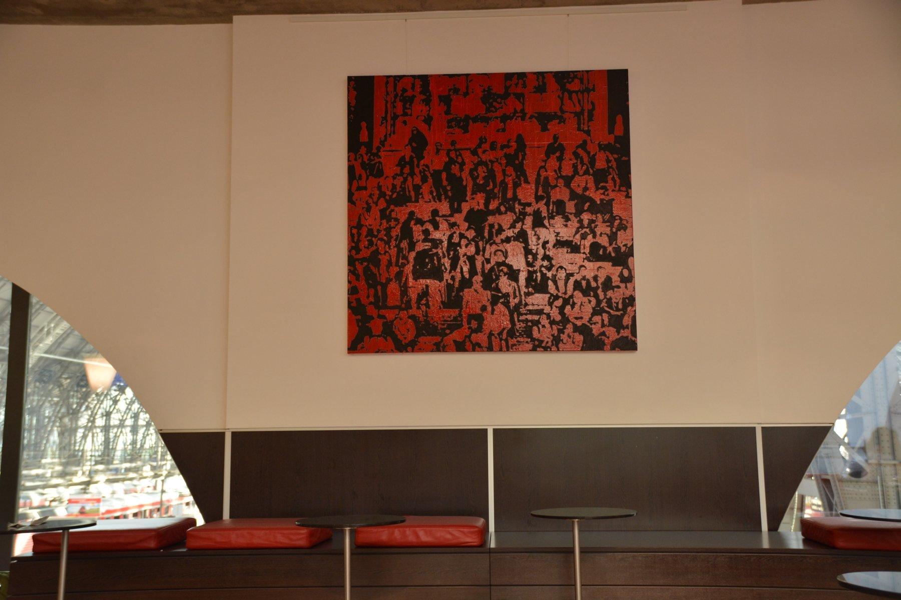 Kunst in der 1. KLasse DB Bahn Lounge in Frankfurt
