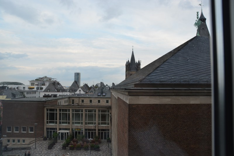 Blick aus dem Fenster des Senats Hotels Köln