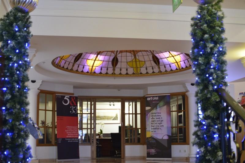 Eingangsbereich des Park Plaza Victoria Amsterdam