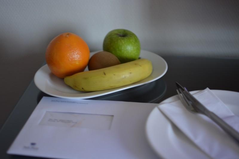 Obstteller zur Begrüßung im Park Plaza Victoria Hotel Amsterdam