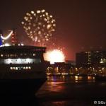 Silvesterfeuerwerk von Board der PRINCESS SEAWAYS (Foto: Simone von nach-holland.de)