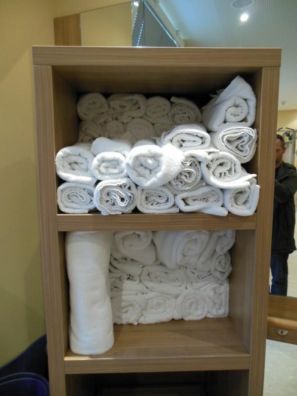 Für Handtücher ist gesorgt