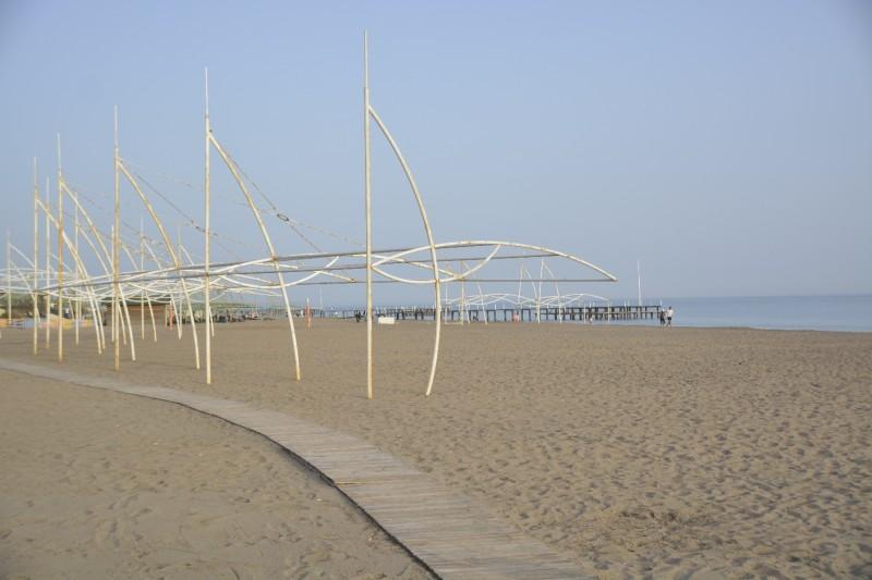 Bild vom Strand vor dem Hotel Concorde de Luxe in Lara (wo es auch WLAN bis zum Meer gibt)