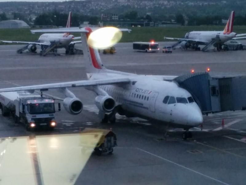 Flieger nach Paris auf meinem Weg nach Cesenatico