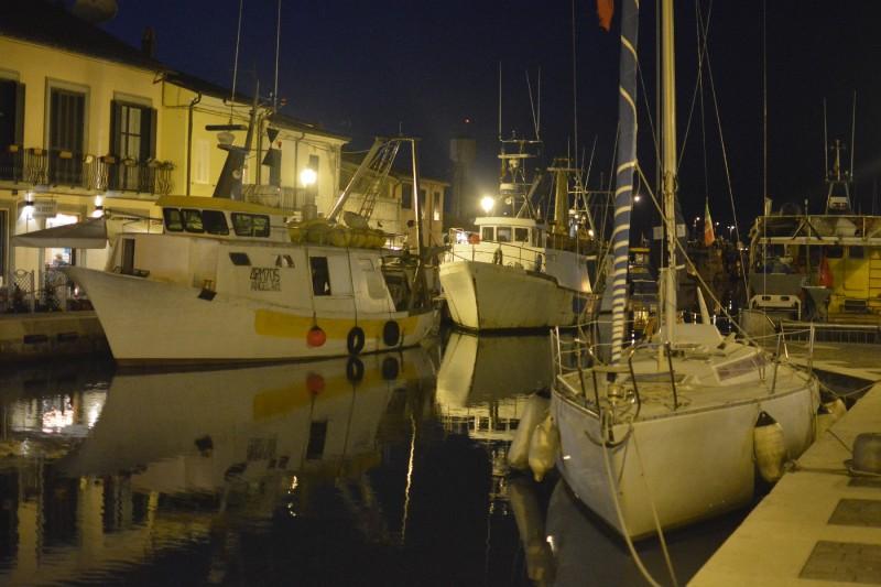 Abendstimmung am Kanal von Cesenatico
