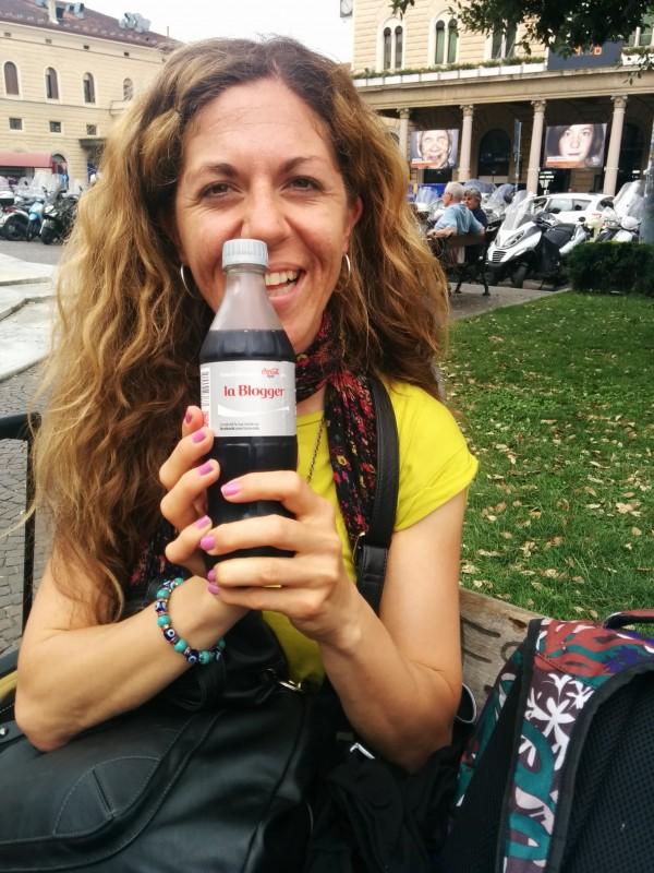 Martina mit Ihrer Blogger-Cola light auf dem Weg nach Cesenatico