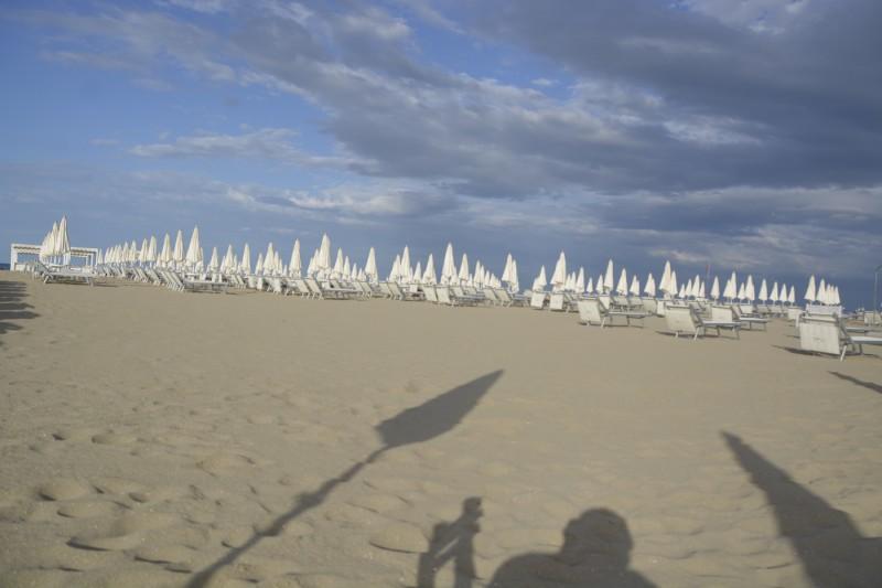 Strand hinter dem Mare in Cesenatico
