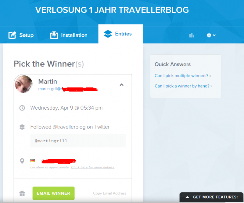 Rafflecopter hat via random.org entschieden - Martin ist der Gewinner!
