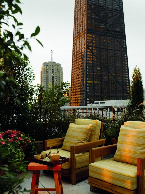 Dachterasse des Peninsula Hotels