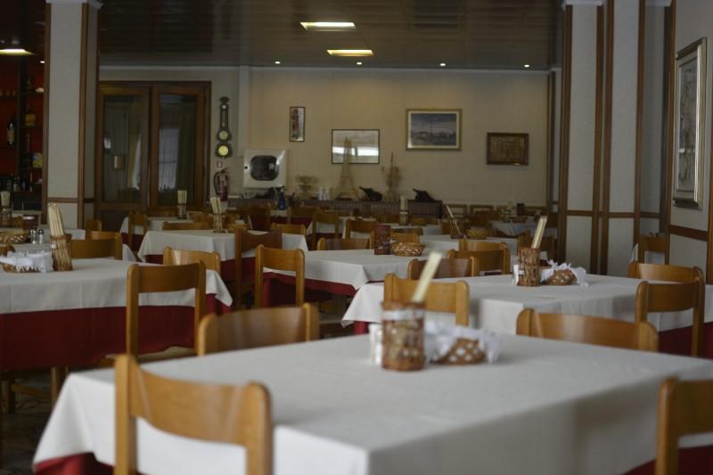 Speisesaal des Hotel Stacchini Cesenatico