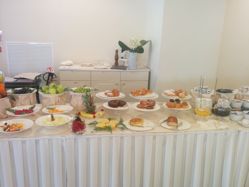 Frühstücksbuffet Teil 2 im Grand Hotel da Vinci Cesenatico