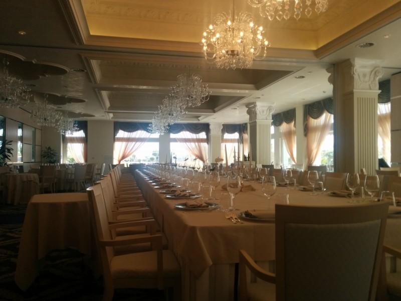 Speisesaal vom Grand Hotel da Vinci Cesenatico