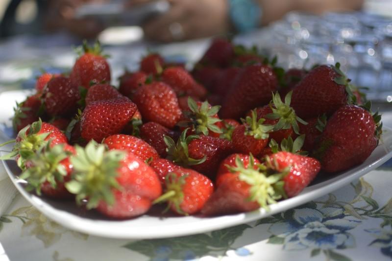 Erdbeeren - unglaublich saftige Dinger..