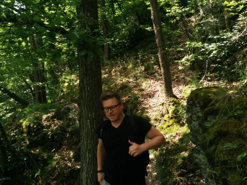 Westerwaldsteig Etappe 10: Thorsten auf dem Weltendepfad