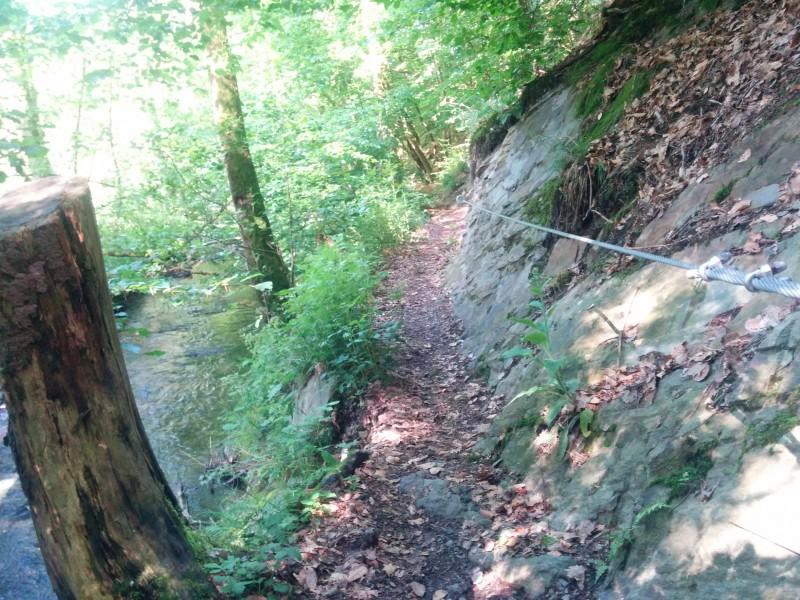 Westerwaldsteig Etappe 10: Absicherung am Wegesrand