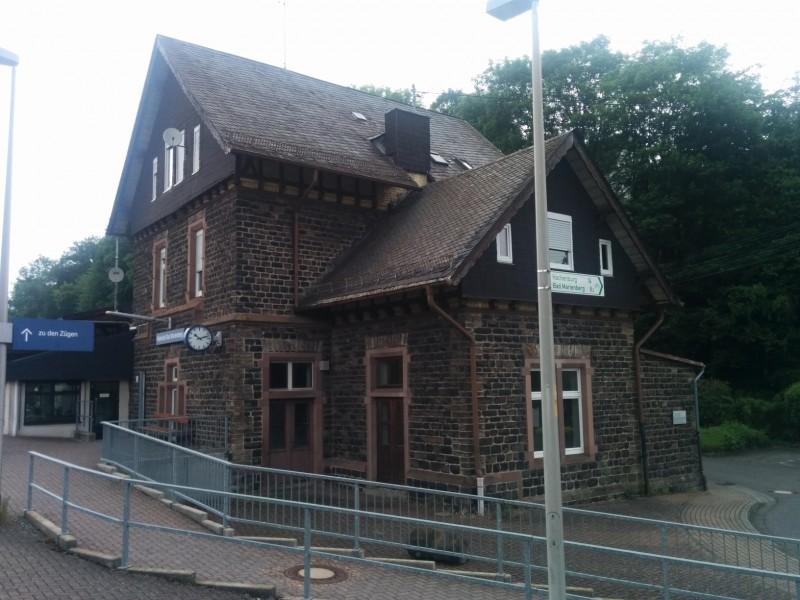 Bahnhof Nistertal, unser Start der 7 Etappe des Westerwaldsteigs