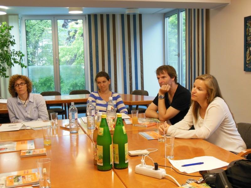 Von links nach rechts: Monika, Tanja, Oliver und Elena