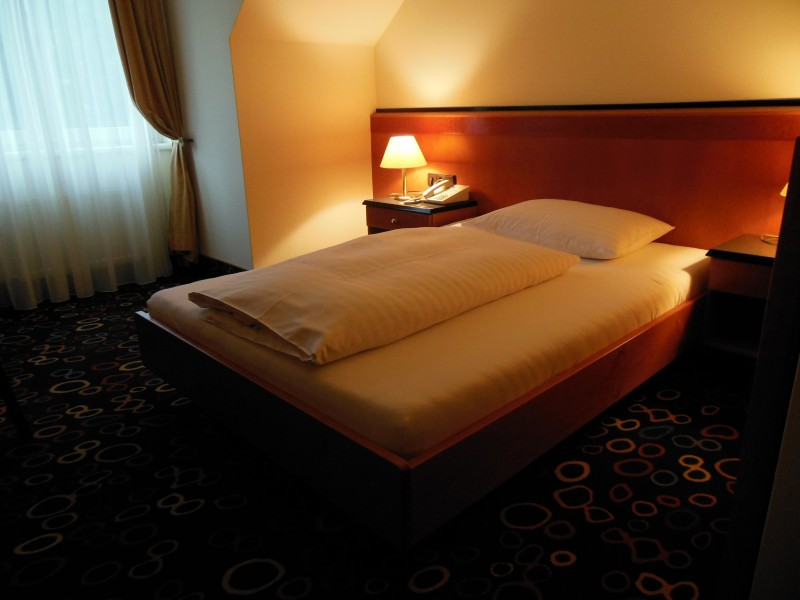 Mein Bett im Hotel Höldrichsmühle / HInterbrühl