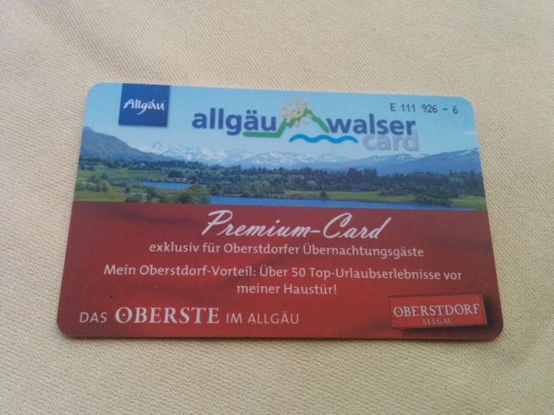 Allgäu Walser Premium Card inklusive Bergbahnen