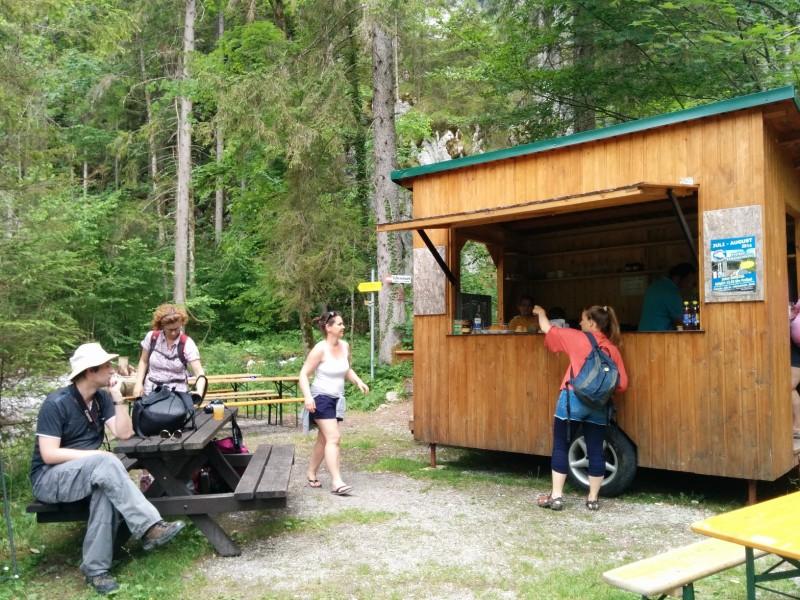 Falkenschluchthütte - gut, um sich nochmal zu stärken