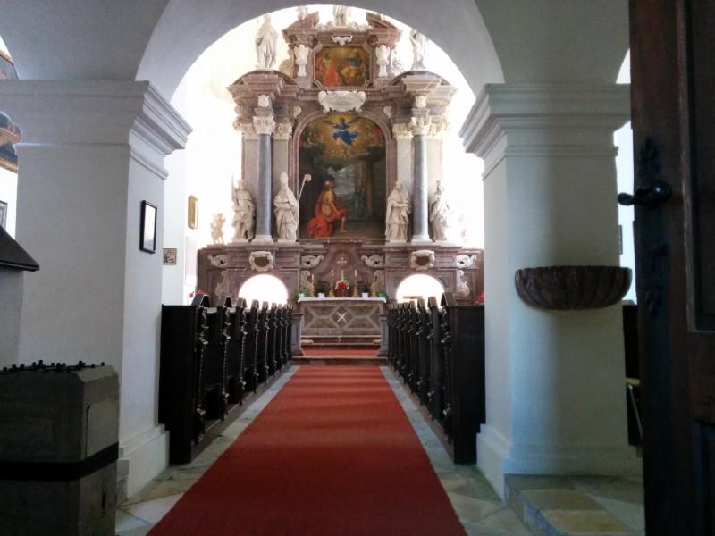 Hochaltar in der Kirche Joachimsberg
