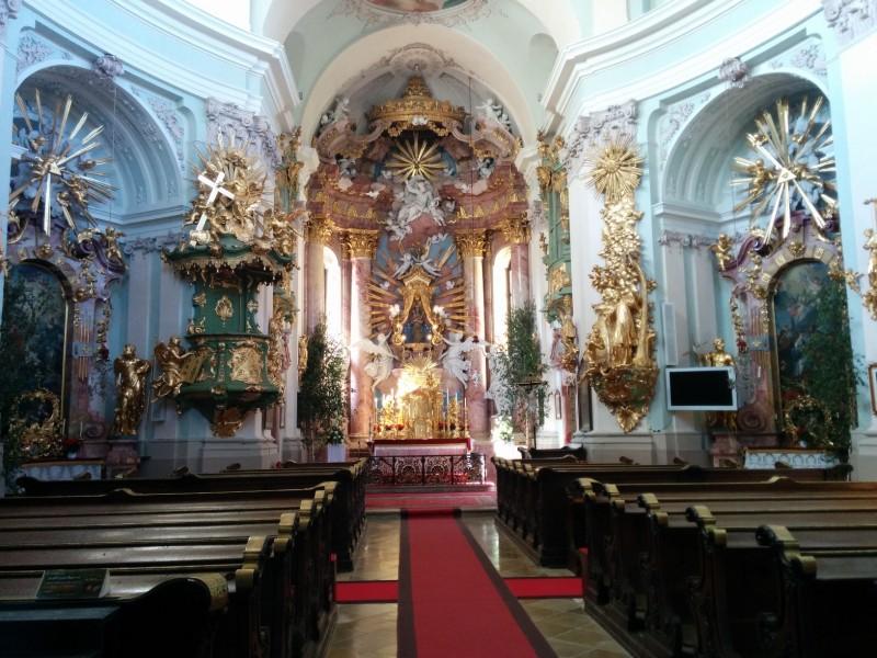 "Altar der Wallfahrtskirche ""Unserer lieben Frau"" in Hafnerberg an der Via Sacra"