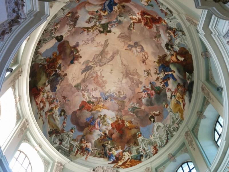 """Deckengemälde in der Wallfahrtskirche """"Unserer lieben Frau"""" in Hafnerberg auf der Via Sacra"""