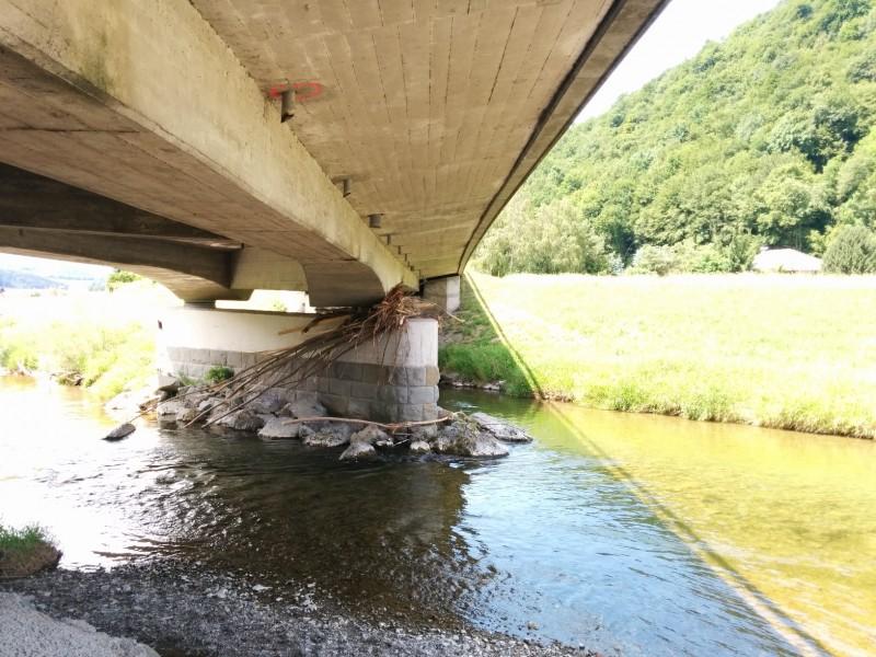 Geäst in der Brücke verfangen... - Pilgern auf der Via Sacra