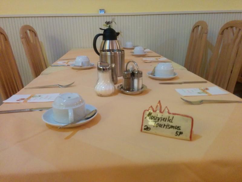 Unser Frühstückstisch, bevor die anderen kamen ;)