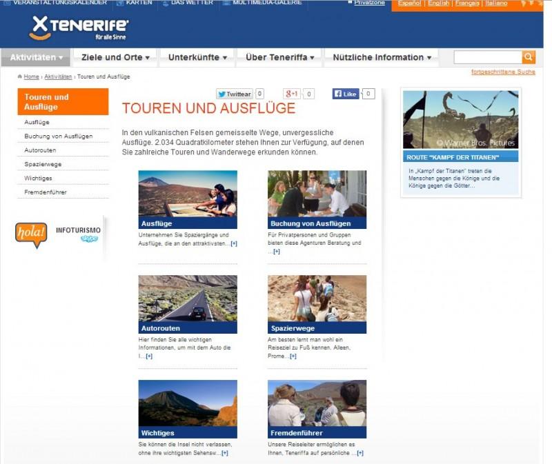 Screenshot von Webtenerife vom 26.07.2014