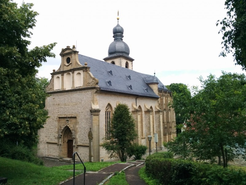 Bergkirche Laudenbach am Jakobsweg im Taubertal