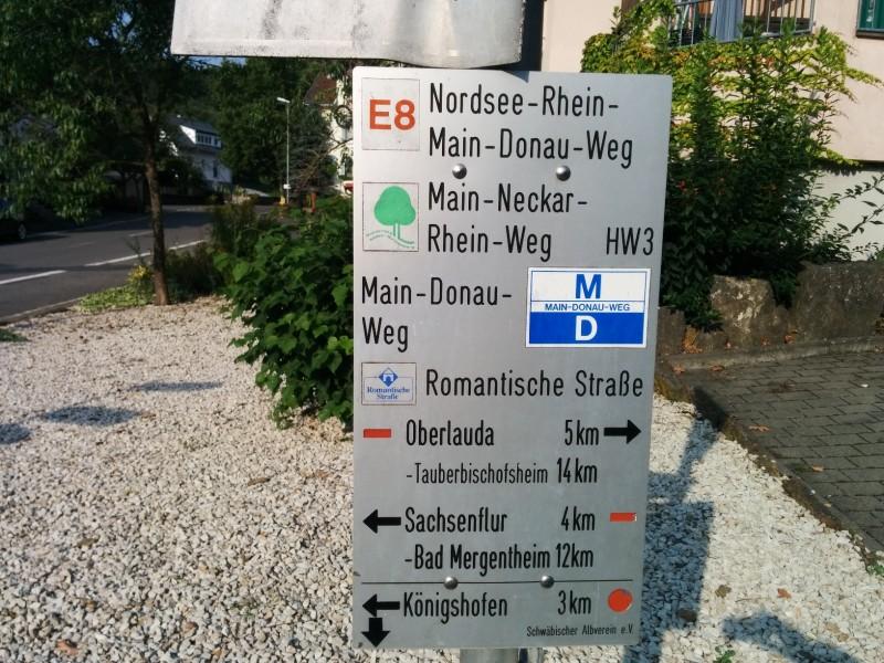 Schild in Beckstein