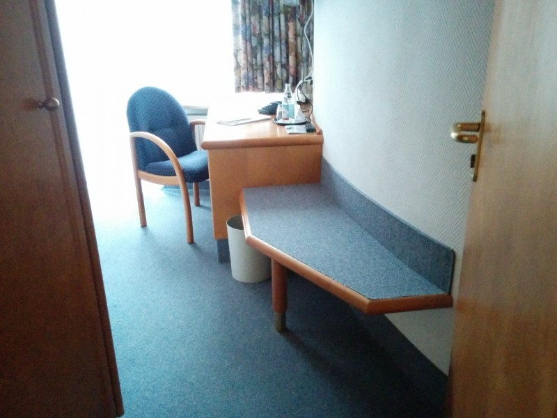 Blick in mein Einzelzimmer  im flair Hotel Weinstube Lochner Markelsheim