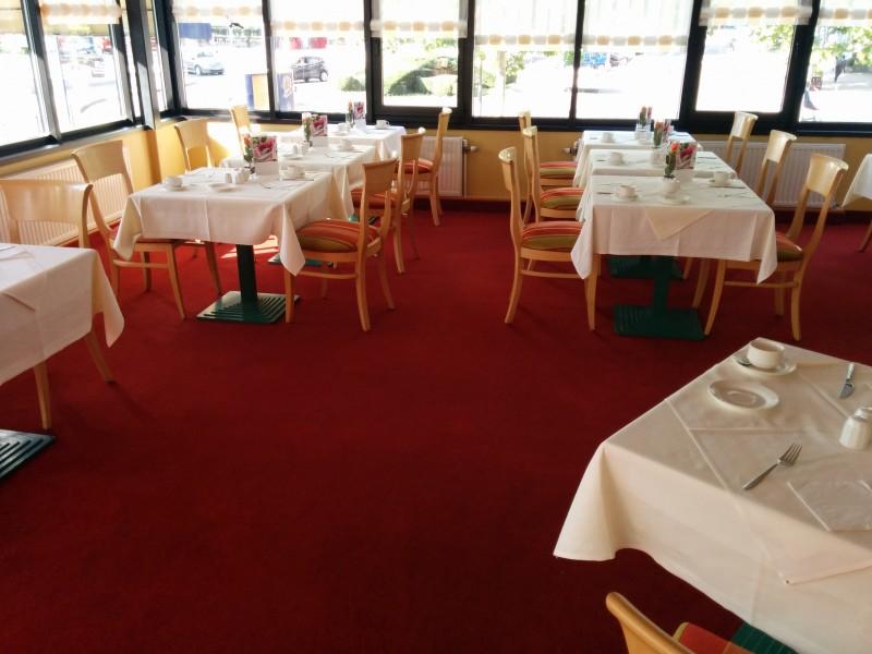Blick ins Restaurant des Hotels Mercure Saarbrücken City