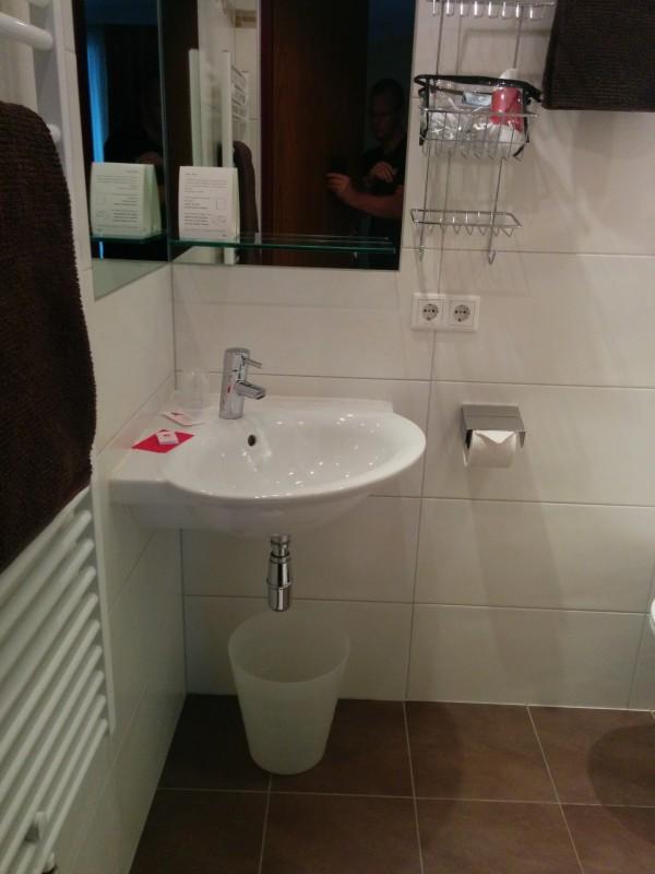 Das Bad im Gästehaus Steger Kaprun