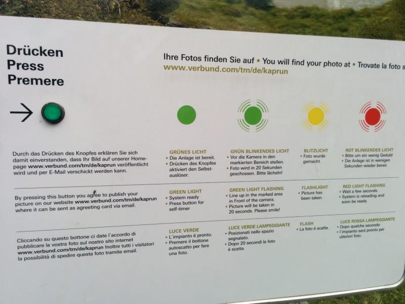 Beschreibung, wie die Fotoanlage oberhalb des Stausees Wasserfallboden funktioniert