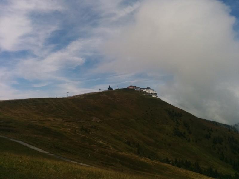 Blick zurück zur Schmittenhöhe