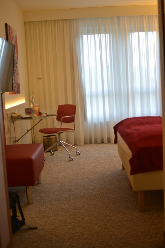 Blick in mein Superior Zimmer im Radisson Blu Karlsruhe