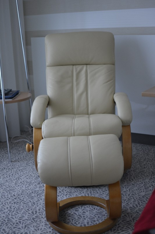 OAAAARRR - ultra bequemer Sessel im Superiorzimmer des Radisson Blu Karlruhe